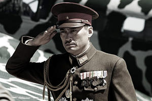 "Ken Watanabe as General Kuribayashi in ""Letters from Iwo Jima."""