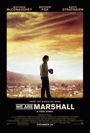 """Poster art for """"We Are Marshall."""""""