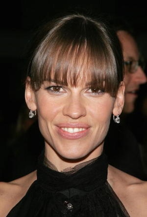 """""""Freedom Writers"""" star Hilary Swank at the Westwood premiere."""
