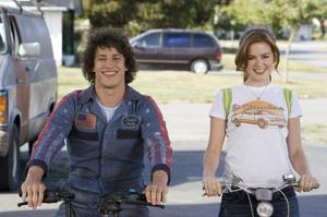 "Andy Samberg and Isla Fisher in ""Hot Rod."""