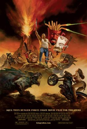 "Poster art for ""Aqua Teen Hunger Force Colon Movie Film for Theaters."""