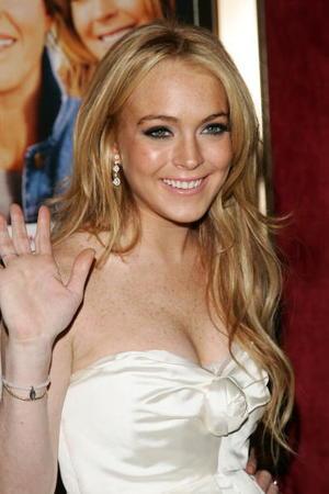 """""""Georgia Rule"""" star Lindsay Lohan at the N.Y. premiere."""
