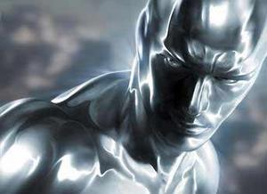 "Doug Jones as the Silver Surfer in ""Fantastic Four: Rise of the Silver Surfer."""