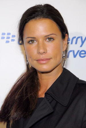 """Skinwalkers"" star Rhona Mitra at the launch party for the new BlackBerry Curve in L.A."