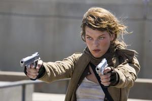 "Milla Jovovich in ""Resident Evil: Extinction."""
