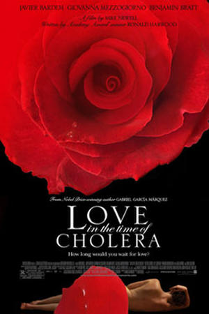 """Poster art for """"Love in the Time of Cholera."""""""