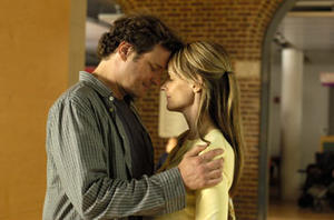 "Colin Firth and Helen Hunt in ""Then She Found Me."""