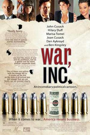 "Poster art for ""War, Inc."""