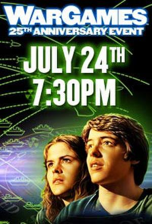 """Poster art for """"WarGames 25th Anniversary."""""""