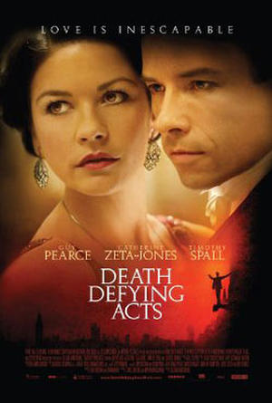 """Poster art for """"Death Defying Acts."""""""