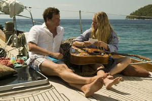 """Colin Firth as Harry Bright and Amanda Seyfried as Sophie in """"Mamma Mia!"""""""