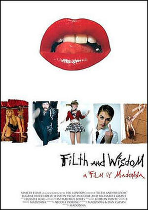 """Poster art for """"Filth and Wisdom."""""""