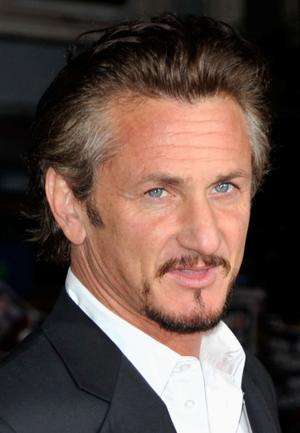 "Sean Penn at the California premiere of ""Milk."""