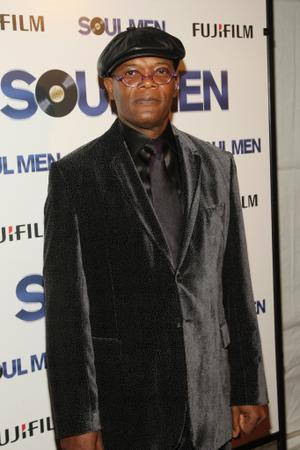 "Samuel L. Jackson at the New York premiere of ""Soul Men."""