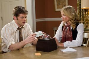 "James Marsden as Arthur Lewis and Cameron Diaz as Norma Lewis in ""The Box."""
