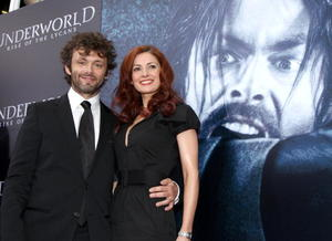 "Michael Sheen and Lorraine Stewart at the California premiere of ""Underworld: Rise Of The Lycans."""