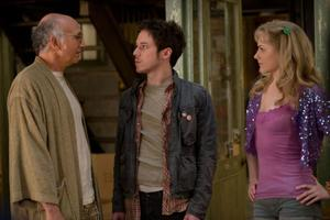 "Larry David, John Gallagher Jr. and Evan Rachel Wood in ""Whatever Works."""