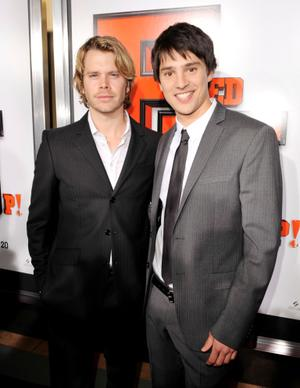 "Eric Christian Olsen and Nicholas D'Agosto at the California premiere of ""Fired Up."""