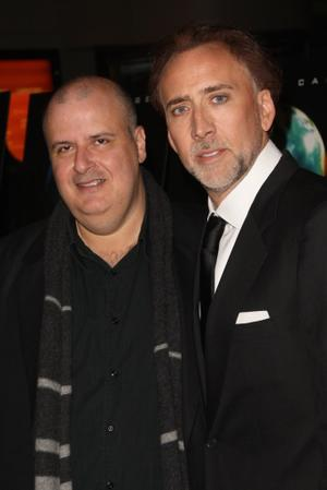 """Director Alex Proyas and Nicolas Cage at the New York premiere of """"Knowing."""""""