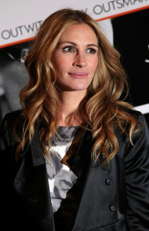 "Julia Roberts at the New York premiere of ""Duplicity."""