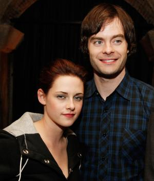 "Kristen Stewart and Bill Hader at the after party of the California premiere of ""Adventureland."""