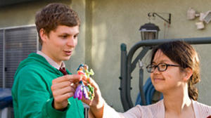 "Michael Cera and Charlyne Yi in ""Paper Heart."""
