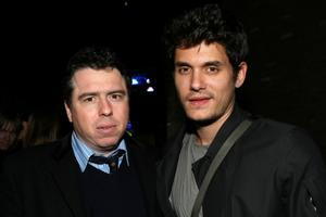 """Director Sacha Gervasi and John Mayer at the after party of the California premiere of """"Anvil! The Story Of Anvil."""""""