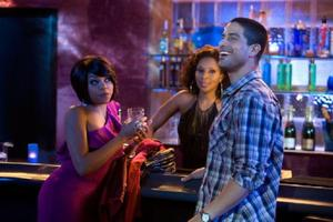 "Taraji P. Henson as April, Mary J. Blige as Tanya and Adam Rodriquez as Sandino in ""Tyler Perry's I Can Do Bad All By Myself."""