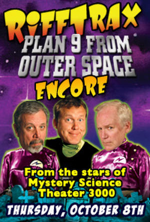 """Poster art for """"RiffTrax: Plan 9 from Outer Space ENCORE."""""""