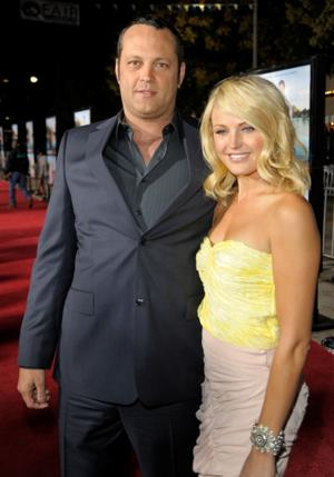 "Vince Vaughn and Malin Akerman at the California premiere of ""Couples Retreat."""