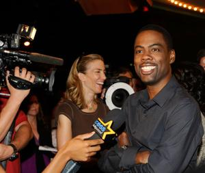 "Chris Rock at the California premiere of ""Good Hair."""