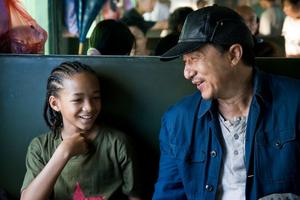"Jaden Smith and Jackie Chan in ""The Karate Kid."""
