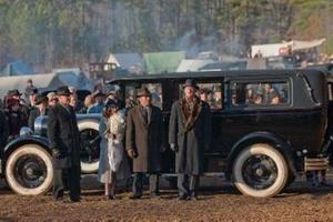 "Lori Beth Edgeman as Kathryn, Lucas Black as Buddy and Bill Murray as Frank Quinn in ""Get Low."""