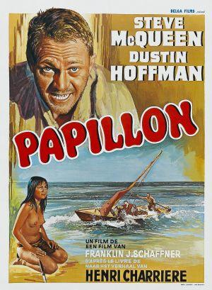 "Poster art for ""Papillon."""