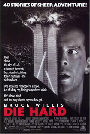 """Poster art for """"Die Hard."""""""