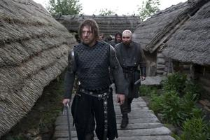 "Sean Bean and Johnny Harris in ""Black Death."""