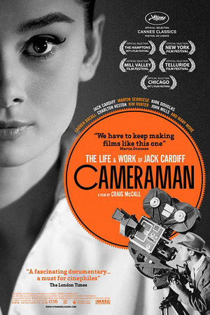 "Poster art for ""Cameraman: The Life and Work of Jack Cardiff."""