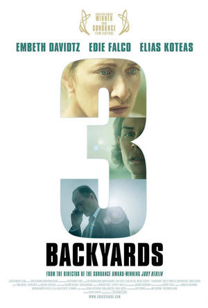 """Poster art for """"3 Backyards."""""""