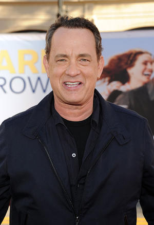 "Tom Hanks at the California premiere of ""Larry Crowne."""