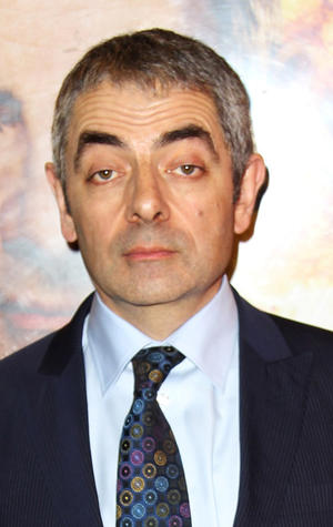 "Rowan Atkinson at the UK premiere of ""Johnny English Reborn."""