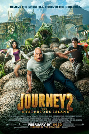 "Poster art for ""Journey 2: The Mysterious Island 3D."""