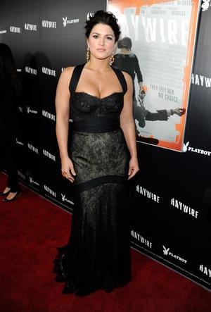 "Gina Carano at the California premiere of ""Haywire."""