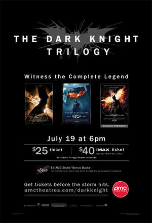 "Poster art for ""The Dark Trilogy."""
