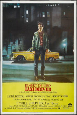 "Poster art for ""Taxi Driver."""