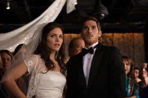 """Katharine McPhee and Rob Schneider in """"You May Not Kiss the Bride."""""""
