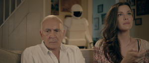 "Frank Langella as Frank and Liv Tyler as Madison in ""Robot and Frank."""