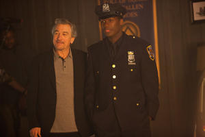 "Robert De Niro as Vic Sarcone and 50 Cent as Malo in ""Freelancers."""