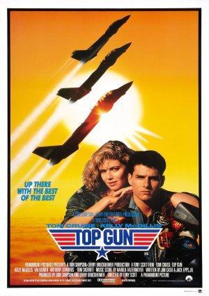 """Poster art for """"Top Gun."""""""
