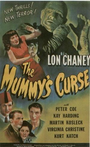 """Poster art for """"The Mummy's Curse."""""""