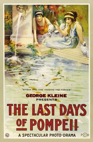 "Poster art for ""The Last Days of Pompeii."""